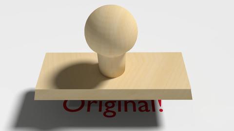 "Wooden Stamp Prints ""Original"" Animation"