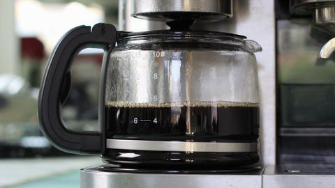 Coffee Making Timelapse stock footage