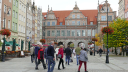 Gdansk, Poland. The old town Live Action