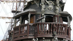 The old wooden galleon ship. Pirate ship, Live Action