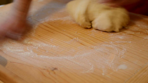 Dough Kneading stock footage