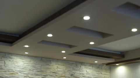 Ceiling lights Footage