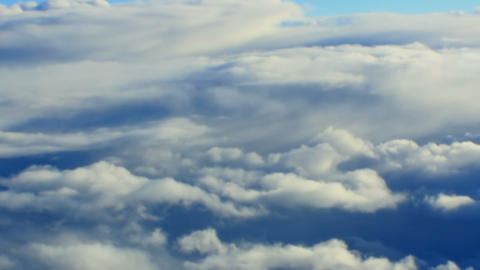 Airplane Window View Of Clouds stock footage