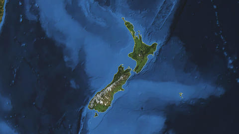 NEW ZEALAND. Zoom in on NEW ZEALAND Animation