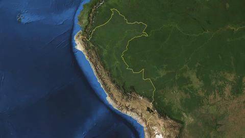 PERU. Zoom in on PERU Animation