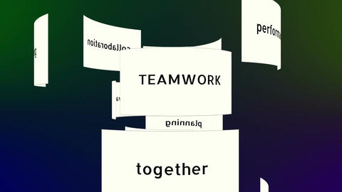 Conceptual Teamwork Words Animation stock footage