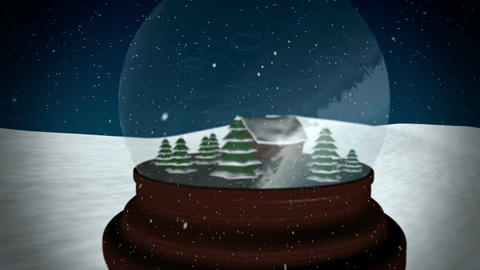 Christmas Snow globe CG動画素材