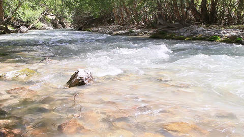 River In The Mountains. Pamir, Tajikistan stock footage