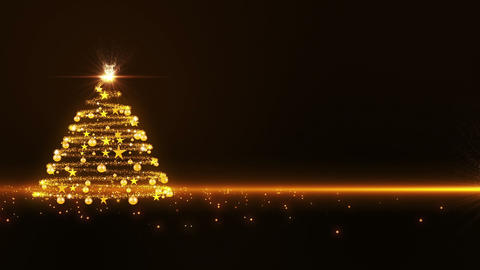Gold Glowing Christmas Tree 1 Animation