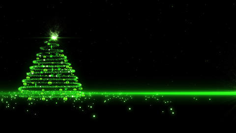 Green Glowing Christmas Tree 1 stock footage