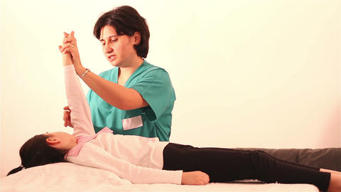 Physical Therapy for children at hands 1 Footage