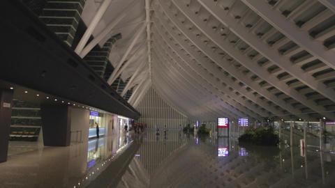 International Arrival Hall - Taoyuan Airport Taipe stock footage