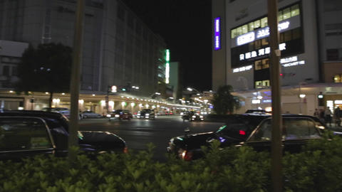 pan of the shijo dori intersection Footage