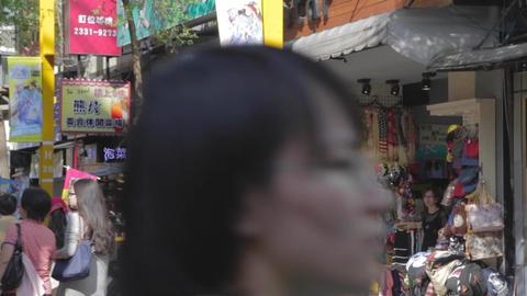 Taiwan store owners in Ximen Taipei - Hanzhong str Footage