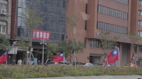 pan - Taiwan flags on xinyi road Live影片