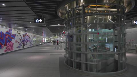 Daan Park MRT elevator goes down Footage