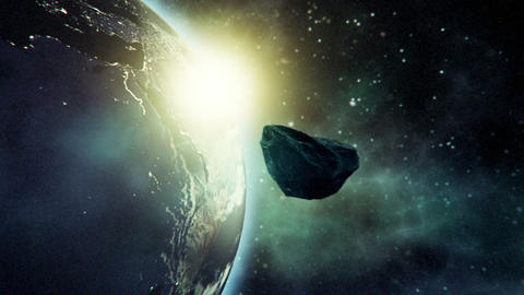 Close approach to Earth by asteroid Animation