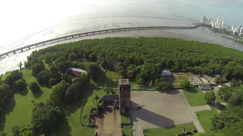 Panama La Vieja, old Spanish city destroyed by pir Footage