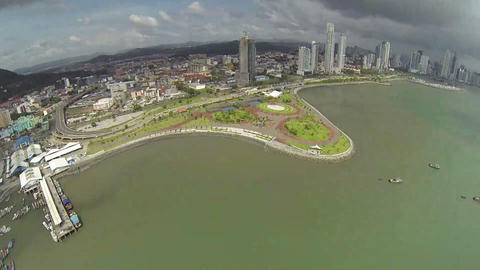 Cinta Costera waterfront boulevard along the Bahia Footage