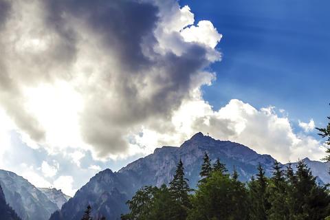 Bucegi Mountains Time Lapse 2 K stock footage