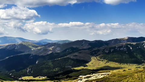 Romania Mountains Landscape Time Lapse Full HD 2 stock footage
