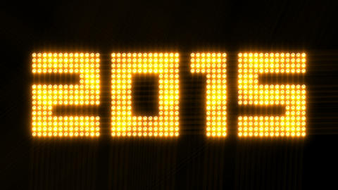 year 2015 array of flickering lights - 4k 30fps lo Animation