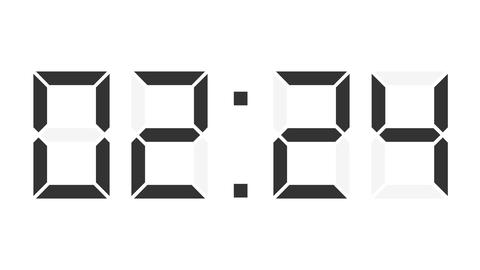 digital clock full 12h time-lapse Animation