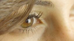 Vintage Girl Eye Detail ECU CC stock footage