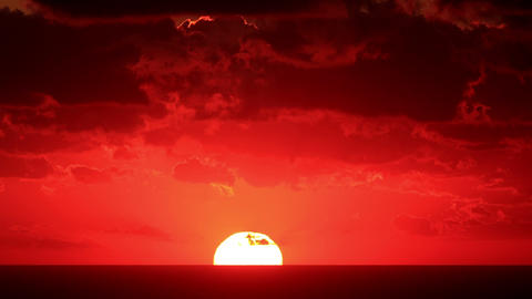 Timelapse sunset on the sea. Crimea, Russia. FULL  Footage