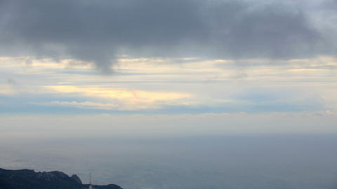 Movement of the clouds on the mountain bay Laspi Footage