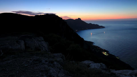 Timelapse sunrise in the mountains bay Laspi. Crim Footage