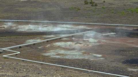 Geothermal Powerplant stock footage