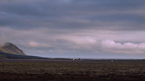 Ominous grey landscape in Iceland Footage