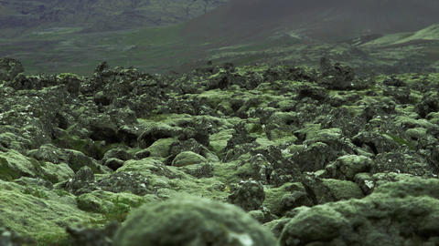 Interesting Igneous Rock Formations In Iceland stock footage