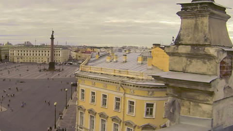 Petersburg. View from the roof. The Palace square Footage