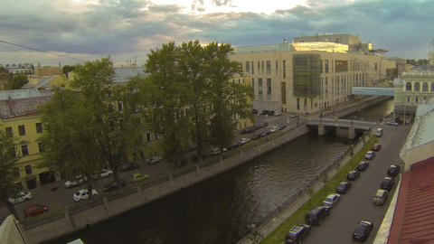 Petersburg. View from the roof. Mariinsky theatre Footage