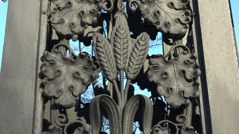 Decorative Cast-iron Fence stock footage