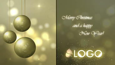 Elegant Christmas Card stock footage