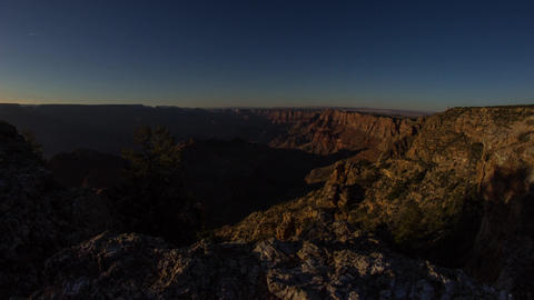 Dolly shot of Sunset time at Grand Canyon Footage