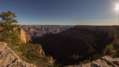 Dolly Shot Of Morning Light In Grand Canyon stock footage