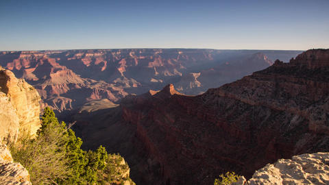 Dolly shot of Grand Canyon with morning lights Footage