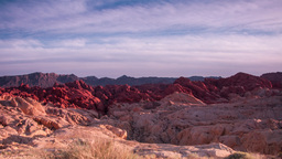 Moving Clouds At Valley Of Fire State Park stock footage