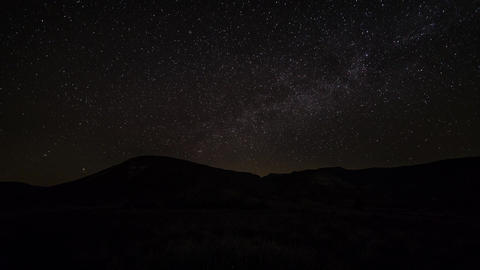 Starry Night Sky From Moonset To Sunrise stock footage
