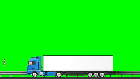 4k, Your text on the truck,transitions (green scre Animation