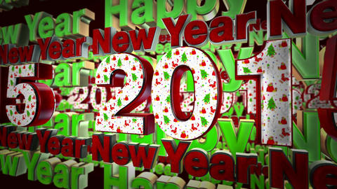 New Year Animation stock footage