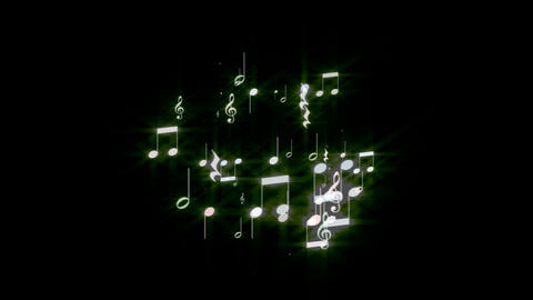 Music Note Spark stock footage