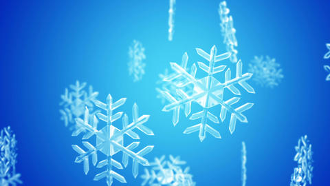 Snow Crystal Blue stock footage
