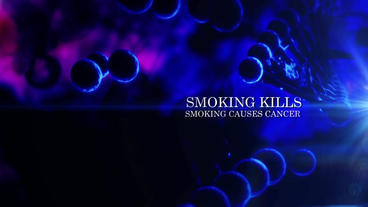Cinematic Smoking Drug Viewer Discretion Opener stock footage