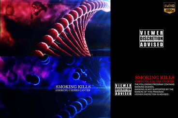 Cinematic Smoking Drug Viewer Discretion Opener After Effects Template