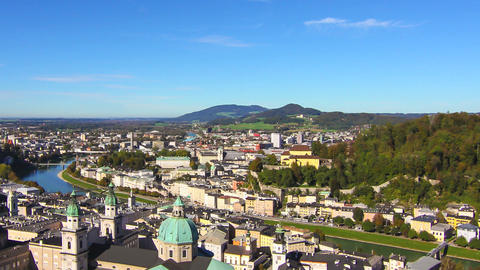 Timelapse of the panorama of Salzburg Footage